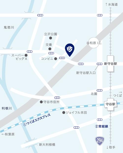 守谷事業所の地図